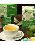 Green tea in tea bags